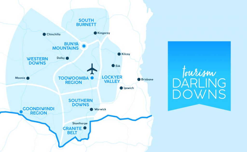 Tourism Darling Downs Map